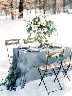 Winter wedding reception table decor | Lissa Ryan Photography on @unitedwithlove via @aislesociety