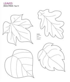 mollie makes felt leaf template - Leaf Templates
