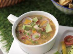 White Chicken Chili Recipe | Valerie Bertinelli | Food Network...chopped cilantro, sliced scallions, sour cream, radishes, jalapenos, avocado