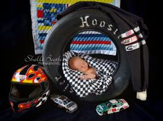 Daddy is a Multi Award Winning Race car Driver and Brayden wants to show his Daddy proud!  This was a must do for their 1st son!  https://www.facebook.com/ShelliBoothPhotography ~Shelli Booth Photography/Art Copyright © 2014. Please DO NOT Alter or Copy image. May be used Pinterest only! Logo cannot be cropped or removed.