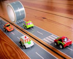 AUTOBAHN TAPE KIT & RACE CAR Give your kids (or yourself) the coolest race track of all time! Our Autobahn Tape Kit & Race Car allows you to create roads wherever your heart desires! Up a wall, down a desk, across the fridge. A race track in the kitc Race Car Birthday, Race Car Party, Disney Cars Birthday, Cars Birthday Parties, Race Cars, Birthday Ideas, 4th Birthday, Cake Birthday, Ideas Dormitorios