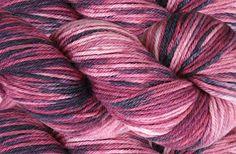 Hand dyed 55% alpaca / 25% wool / 20% nylon shrink-resist DK 'Winter Berries'