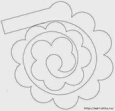 Розочки из бумаги для осеннего венка. Шаблон  (9) (467x450, 63Kb)