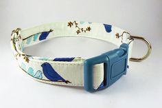 blue bird dog collar