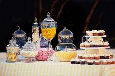 Rosemary Beach Wedding Photos by Meg Baisden Photography #candybuffet #dessertbar