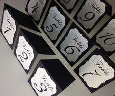 Wedding table numbers tented table numbers by ElegantDecorBoutique