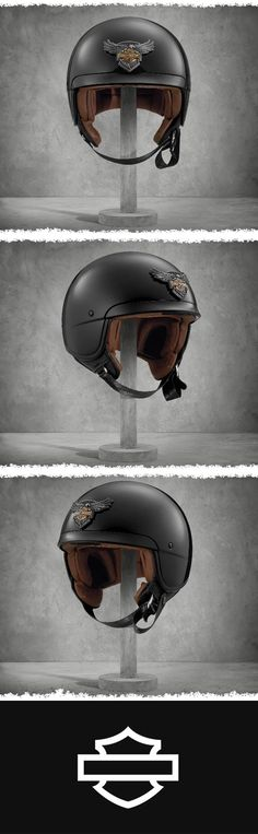 There's are plenty of reasons to celebrate the 115th Anniversary Medallion Helmet. | Harley-Davidson 115th Anniversary Medallion 5/8 Helmet