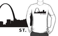 #stlouis #skyline #city  #missouri st louis #usa #mississippi #fashion #shirt