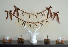 DIY Give Thanks Banner