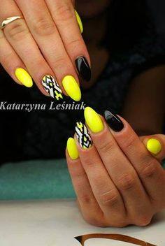 by Kasia Leśniak Indigo Young Team! Follow us on Pinterest. Find more inspiration at www.indigo-nails.com #nailart #nails #indigo #yellow #black