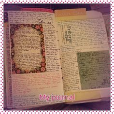 journal. I would like every page of my journal to be pleasing to my eye. Not just words across a page, but something unique.