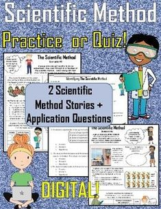 The Scientific Method Stories Practice, Examples, Application and Quiz : DIGITAL Science Worksheets, Vocabulary Activities, Science Resources, Science Lessons, Teaching Science, Science Activities, Teaching Tools, Teaching Resources, Science Ideas