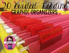 20 quick grab & go graphic organizer to make Guided Reading run easier & smoother!