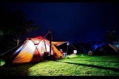 薪ストーブのキャンプアイテム「Stove Duct Cover」