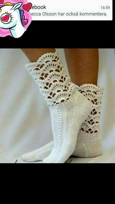Neat - Crochet cuffs to purchased ankle socks. I use crochet edgings on babies undershirts, receiving blankets, etc. Crochet Boot Cuffs, Crochet Boots, Crochet Slippers, Knit Or Crochet, Crochet Crafts, Knitting Socks, Crochet Clothes, Crochet Horse, Knitting Projects