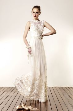 love all of her dresses. Ribbon Lace Gown from Anaessia Wedding Dresses Nyc, Second Hand Wedding Dresses, Wedding Dress With Veil, Bridal Dresses, Lace Wedding, Backless Wedding, Vintage Bridal, Bridal Collection, Wedding Styles