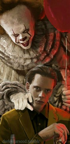 My two favourite people... I love Bill Skarsgård ❤️ #IT2017 #Pennywise #fanart
