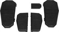 Belt Drives Ltd Ultimate Passenger Floorboards - Black - Horizontal Slots