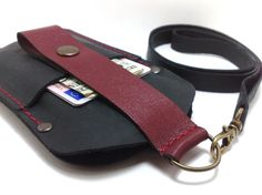 NEW Sleeve case with black and red genuine leather for by TIZART, $32.00