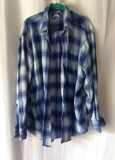8ce7bde71db91 Blue and White Plaid Flannel