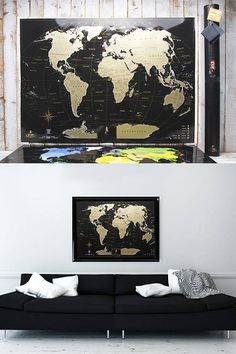 Full Color Deluxe Scratch Off Map   Detailed Places Iu0027ve Been World Travel  Map U2013 World Map Gift, Travel Map, Scratchable Map Scratch Off