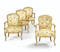 A SET OF FOUR LACQUERED ARMCHAIRS STAMPED L. DELANOIS, LOUIS XV 4,000 — 6,000 EUR 5,505 - 8,257USD Lot. Vendu 4,375 EUR (6,021 USD) (Prix d'adjudication avec commission acheteur)