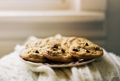 Hot out of the oven chocolate chip cookies