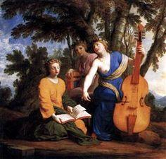 Melpomene, Erato and Polyhymnia - Eustache Le Sueur