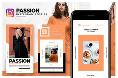 Passion - Instagram Stories Pack by Onurcan Erdem on @creativemarket Social media creative design posts for promotion marketing design templates. Use it for quotes, tips, photos, etiquette, ideas, posts or for presentation your business agency, products s