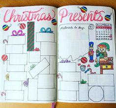 14 Bullet Journal Spreads - Christmas Present Spread