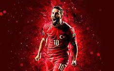 3c6c9b79688 Download wallpapers Arda Turan, 4k, abstract art, Turkey National Team, fan  art, Turan, soccer, footballers, neon lights, Turkish football team