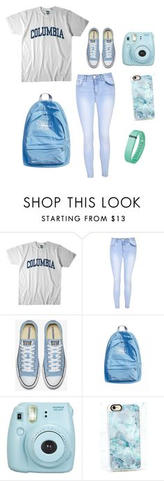 """""""Back to school at my my fave college, University of Colombia"""" by dasteryin on Polyvore featuring Columbia, Glamorous, Fujifilm, Casetify and Fitbit"""