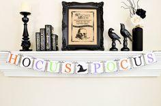 Hocus Pocus, Trick or Treat, Halloween Banner, Happy Halloween Banner, Hocus Pocus Sign, Halloween Kids Party