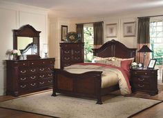 Rohan King Bed $799.99 Sku:126467 Dimensions:83Wx89Dx66H Add a little Old World Charm to your room, with the beautiful Rohan Collection. Featuring scrolling details, along with a beautiful hand carved acanthus leaf onlay though out the collection. The Rohan made with poplar, basswood solids and veneers in a Tudor brown is a unique, eye catching collection. Please visit our website for warranty and benefits.