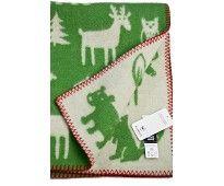 Babyteppe i ull fra Klippan, grønt..