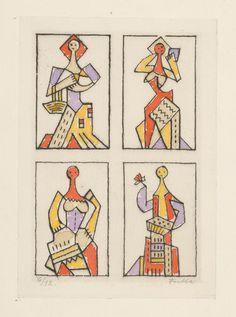 Ľudovít Fulla - Štyri ženy
