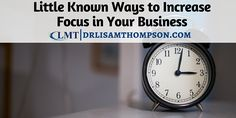 New blog post:Have you let yourself get too distracted to build your business? Here are some ways to increase focus in your business with speed, pleasure, and ease! Repin if you found value.  http://www.drlisamthompson.com/increase-focus/