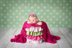 Idaho Falls ID Newborn Infant Baby Photographer ~ Caralee Case Photography  #newbornphotography #babygirl  #pink #green #baby