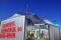 La préparation du village du Conseil Général du Bas-Rhin à la Foire européenne ©Denis Guichot/CG67