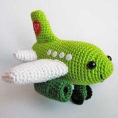 Small Plane amigurumi pattern by Anna Vozika