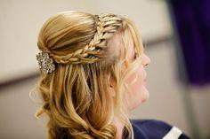 Braided half up hairstyle Wedding Hair