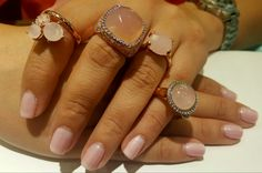 Honor National Breast Cancer Awareness Month with these beautiful rose quartz rings from Bronzallure.