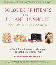 Du 19 au 24 Mars 2015 sur ma boutique en ligne www.partylite.biz/marcelrobidoux Mars, Promotion, Candle, Boutique Online Shopping, March, Mars Symbol