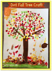 Dot Fall Tree {kids craft} - Our Three Peas