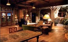 "Apartment from ""Nash Bridges"" - gorgeous! Eclectic Design, Interior Design, Nash Bridges, Basement Workshop, Michael Landon, Don Johnson, Live In Style, Eclectic Living Room, Home Theater"