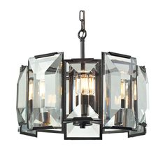 Elk Lighting Garrett 5 light Chandelier/Pendant in Oil Rubbed Bronze
