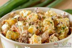 Receita de Salada de maionese mandioquinha e sardinha em receitas de saladas, veja essa e outras receitas aqui!