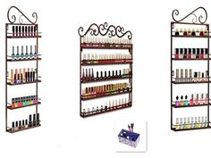Dazone DIY Mounted 5 Shelf Nail Polish Wall Rack Organizer Holds More than 200 Bottles Nail Polish or Essential Oils (3 in 1 Bronze) DAZONE http://www.amazon.com/dp/B00YGWRV4G/ref=cm_sw_r_pi_dp_pB0Rvb0H28Z4M