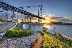 Florianópolis, Santa Catarina Brazil.  Ponte Hercílio Luz