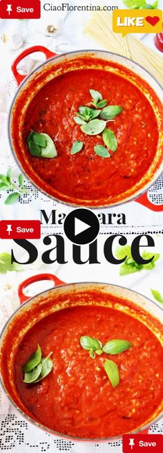 The outstanding Marinara SaThe outstanding Marinara dip technique, authentic Italian made with San Marzano tomatoes, garlic and basil! Easy, chunky, creamy and hearty, this is the only recipe you'll need | CiaoFlorentina.com @CiaoFlorentina and this is picked for your for father's day .